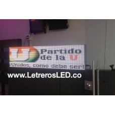 Pantalla LED RGB 32x128. Full Color. Semi-Outdoor. Excelente Visibilidad.