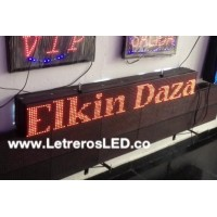 Pasamensajes LED 16x128 Doble Cara, Programable USB. Aviso LED. Letrero LED