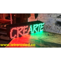 Pasamensajes LED 16x64 Doble Cara, Programable USB. Letrero LED