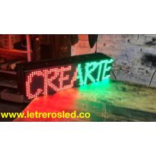 Pasamensajes LED 16x64 Doble Cara, Programable USB. Letrero LED