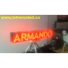 Aviso LED 16x96 Doble Cara, Programable USB. Letrero LED