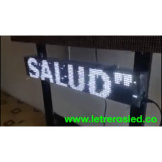 Pasamensajes LED Programable USB. Alto Brillo. Publicidad. 20x100cm.