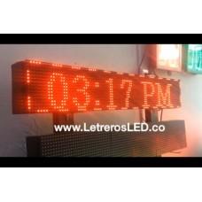 Pasamensajes LED Programable, Conexion USB. Alto Brillo. P10. 20x100