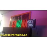 Pantalla LED 32x128. Colores Combinados. Soporta Lluvia y Sol. Conexion USB.