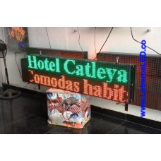 Pantalla LED Programable 32x128. Verde y Rojo. Exterior.