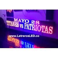 Pantalla LED 32x224 Mono-Color. Aviso LED. Bandera de Colombia. Publicidad Efectiva. Letreros LED Exterior.