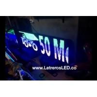 Letrero LED Programable USB y LAN. Tamaño 48x192. Tipo Exterior.