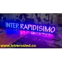 Letreros LED Tri-Color RB (Rojo, Azul, Fucsia). 16x128cms. Tipo exterior.