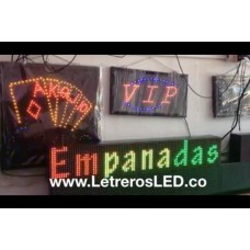Letrero LED Sign Tri-Color 16x96. Excelente Publicidad. Exterior.
