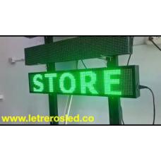 Aviso Programable USB. 20x100cm Tri-Color Rojo-verde-amarillo.