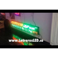 Pantalla LED Tri-Color RG. 32x192cm. Tipo Exterior. Alta Luminosidad