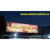 Letrero Luminoso Lona Translucida - Diseño e Instalacion