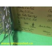 Tarjetas de Cumpleaños - 15 Años - Papel Metalizado, Corte / Grafado